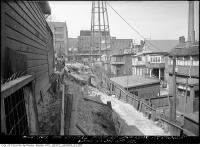 Historic photo from Thursday, April 21, 1932 - Proposed lane rear of St. Anne in Dufferin Grove