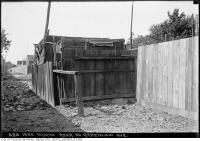Historic photo from Friday, June 10, 1932 - Shack at the rear of 56 Greenlaw Avenue in Little Italy (St. Clair)