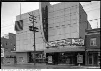 Historic photo from 1947 - Fairlawn Theatre on Yonge St. showing The Man Within - Deltra Dress shop next door in Bedford Park