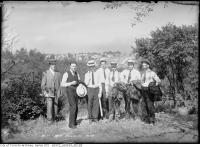 Historic photo from Friday, July 10, 1914 - Group of men on site, from Drumsnab Road in Riverdale park