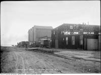 Historic photo from Friday, October 23, 1914 - Lake Simcoe Ice Co. property, south side of 83 Esplanade East - near foot of Frederick Street in St. Lawrence