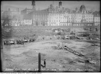 Historic photo from Tuesday, October 12, 1915 - Union Station excavation across the street from the Queens Hotel in Financial District