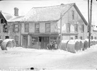 Historic photo from Saturday, February 3, 1912 - Old houses - northwest corner of Trinity and Fronts Streets in Distillery District
