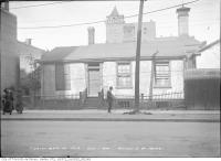 Historic photo from Thursday, October 1, 1914 - Wilton Avenue East of Yonge Street with O'Keefe's in background in Garden District