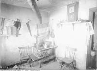 Historic photo from Friday, March 10, 1916 - Slum interior (kitchen), 131 Nairn Avenue in Little Italy (St. Clair)