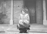 Historic photo from Tuesday, March 21, 1916 - Fanny Kombloom as a young girl, 6 Baldwin Street in Grange Park
