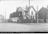 Historic photo from Friday, November 9, 1917 - Condemned Houses - Southeast corner of Eastern Avenue and Trinity Street in Distillery District