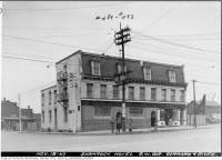 Historic photo from Tuesday, November 18, 1947 - Shamrock Hotel and Grill, s.w.corner of Gerrard and River in Regent Park