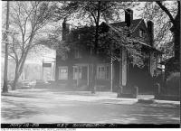 Historic photo from Tuesday, May 12, 1953 - Dr. A.E.Clarke and convertible at 627 Sherbourne Street in Upper Jarvis