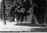 Historic photo from Monday, June 22, 1953 - Looking north from 603-605 Sherbourne Street at Howard Street in Upper Jarvis