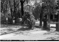 Historic photo from Monday, June 22, 1953 - Behind the gate at 623 Sherbourne Street in Upper Jarvis