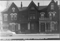 Historic photo from Wednesday, March 10, 1954 - 607-609-611 Sherbourne Street in Upper Jarvis