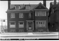 Historic photo from Wednesday, March 10, 1954 - Dr. A.E. Clarke Dentist at 627 Sherbourne Street in Upper Jarvis