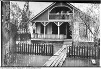 Historic photo from Wednesday, June 3, 1908 - Island in flood, 12 St. Andrews Avenue in Toronto Island