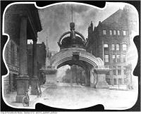 Historic photo from 1901 - I.O.F. Arch looking south down Bay Street for Royal Visit - Duke and Duchess Cornwall - York in City Hall