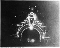 Historic photo from 1901 - Manufacturer's Arch illuminated for Royal Visit - Duke and Duchess Cornwall - York in Downtown