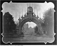 Historic photo from 1901 - Manufacturers Arch, Queens Park - Royal Visit in Queens Park