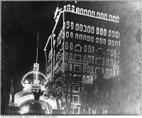 Historic photo from Wednesday, October 10, 1901 - Night time shot of an illuminated IOF Arch - Royal Visit in Queens Park
