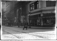 Historic photo from 1918 - Colonial Theatre and Bowles lunch on south east corner of Queen and Bay Streets in City Hall