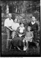 Historic photo from Monday, July 31, 1922 - A.S. Goss, wife and children, in garden of 53 Neville Park Boulevard in The Beaches