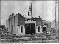 Historic photo from 1905 - Kew Beach fire hall - construction - main storey being built - now Toronto Fire Station 227 in The Beaches
