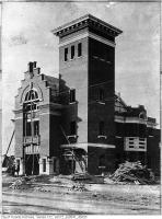 Historic photo from 1905 - Kew Beach Station 17 fire hall under construction - 1904 Queen St East in The Beaches