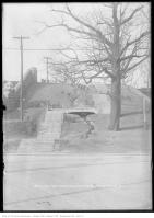 Historic photo from Friday, February 14, 1913 - Baldwin Steps - Spadina Road Park - stairs and creek north from Davenport Road in Casa Loma