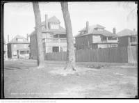 Historic photo from Monday, April 28, 1913 - Before two trees were removed Dufferin Grove in Dufferin Grove