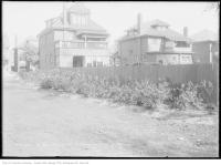 Historic photo from Tuesday, September 9, 1913 - Backyard of houses around Dufferin Grove park in Dufferin Grove