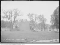 Historic photo from Wednesday, October 1, 1913 - Trees and buildings around Moss Park in Moss Park