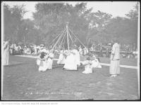 Historic photo from Saturday, August 22, 1914 - Leslie Grove Playground  - Maypole dancing in Leslieville