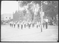 Historic photo from Wednesday, August 26, 1914 - Excercises at St. Andrews playground in Alexandra Park