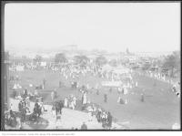 Historic photo from Wednesday, September 1, 1915 - Broad shot of the rides on the Exhibition Grounds and Model Playground in CNE