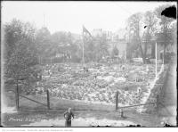 Historic photo from Saturday, September 4, 1915 - Tending the Moss Park Gardens in Moss Park