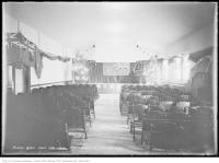 Historic photo from Friday, December 24, 1915 - McCormick Playground - Hall with Christmas Trees in Brockton Village