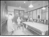 Historic photo from Friday, December 1, 1916 - Moss Park Recreation Centre - Billiard Room in Moss Park
