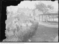 Historic photo from Saturday, September 1, 1917 - Garden and coverd children's sand pit - Dufferin Grove Park in Dufferin Grove