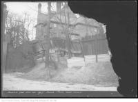 Historic photo from Wednesday, December 26, 1917 - Old fence in winter in Moss Park in Moss Park