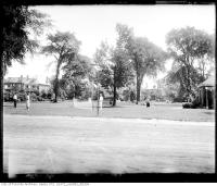 Historic photo from Friday, July 1, 1921 - Lawn tennis at Dufferin Grove Park in Dufferin Grove
