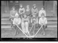 Historic photo from Saturday, April 15, 1922 - Girls hockey team - Moss Park in Moss Park