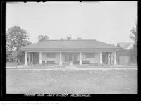 Historic photo from Monday, July 11, 1927 - Rosedale Park - shelter building with fountain in Rosedale