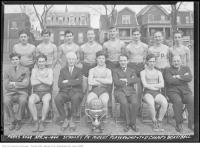 Historic photo from Sunday, April 14, 1940 - Stanley Park Midgets - Playground, Toronto and District Basketball Champions in Stanley Park