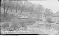 Historic photo from Saturday, May 11, 1912 - Riverdale Zoo Park : duck pond when nearly dry in Riverdale park