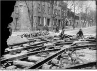 Historic photo from Friday, May 5, 1911 - Church and Wilton - laying streetcar track in Garden District