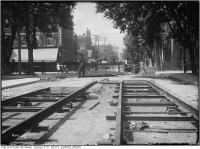 Historic photo from Thursday, May 25, 1911 - Wilton and Church - track construction in Garden District