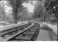 Historic photo from Wednesday, June 7, 1911 - Wilton Cres. west of Sherbourne -track construction in Garden District