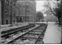 Historic photo from Friday, June 9, 1911 - Wilton and Victoria - streetcar track in Garden District