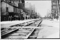 Historic photo from Thursday, November 16, 1911 - Queen Street and Terauley Street (now Bay Street) in City Hall