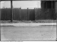 Historic photo from Tuesday, January 28, 1913 - Coolmine Road - sidewalk crossing on east side opposite north gate of Protestant Orphans Home in Dufferin Grove