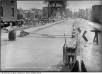 Historic photo from Tuesday, May 6, 1913 - Track - Wilton Ave (now Dundas) at Munro St. in Riverside-South Riverdale